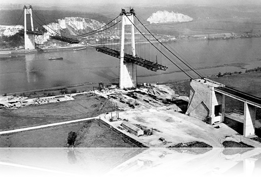 Construction du Pont de Tancarville